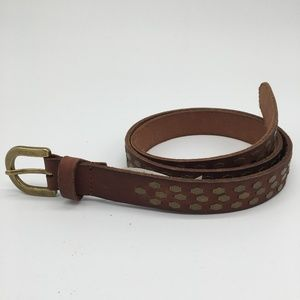 Lucky Brand Leather Belt Brass